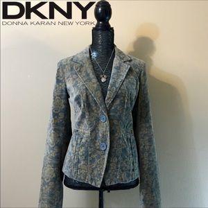 DKNY Jeans velvet paisley blazer jacket S